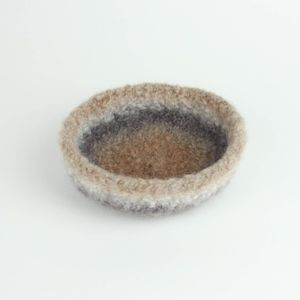 Handmade Felted Wool Bowl Home Decor Ring Bowl